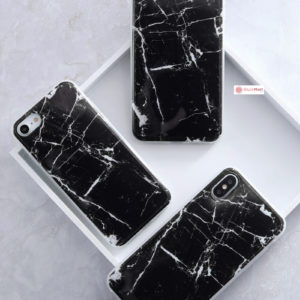 iPhone Case Pattern Thin Gel TPU Soft Bumper - Black
