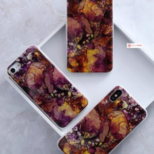iPhone Case Pattern Thin Gel TPU Soft Bumper - Ruby