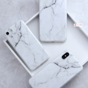 iPhone Case Pattern Thin Gel TPU Soft Bumper - White