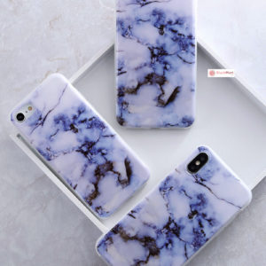 iPhone Case Pattern Thin Gel TPU Soft Bumper - Purple