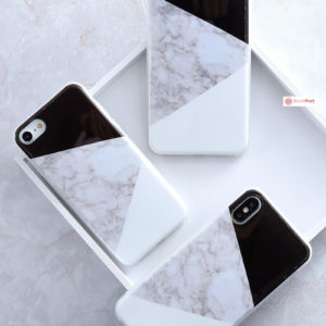 iPhone Case Pattern Thin Gel TPU Soft Bumper - Black & White